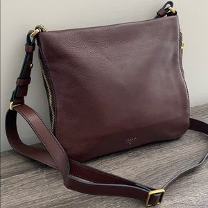Expandable Brown Leather Crossbody from Fossil